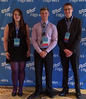 Above are Milford PBL members, from left, Bethany Domann, Christian Crosby, Dylan Countryman, who attended the National Leadership Conference in Nashville in June.