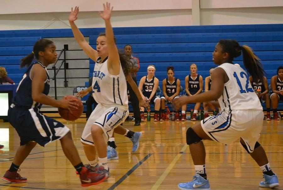 Chelseah Savage and Makayla McDaniel defense help hold Southwestern