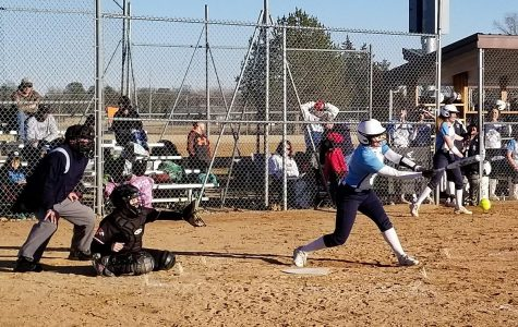Lady Storm softball splits double-header with Northeast